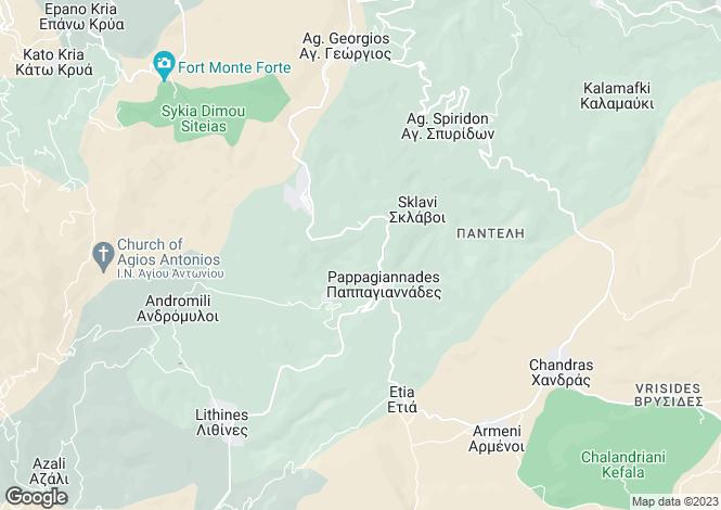 Map for Sitia / Makrigialos / Mochlos, Lasithi, Greece