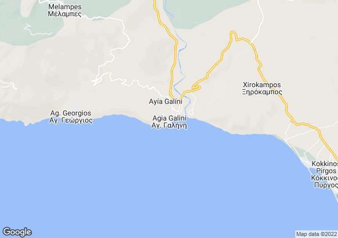 Map for Agia Galini, South Crete, Greece