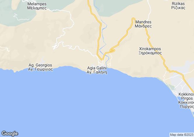 Map for Agia Galini, South Crete, Greece