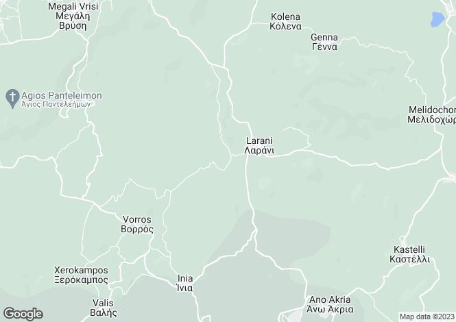 Map for Crete, Heraklion, Agia Vervara
