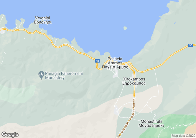 Map for Crete, Lasithi, Pachia Ammos