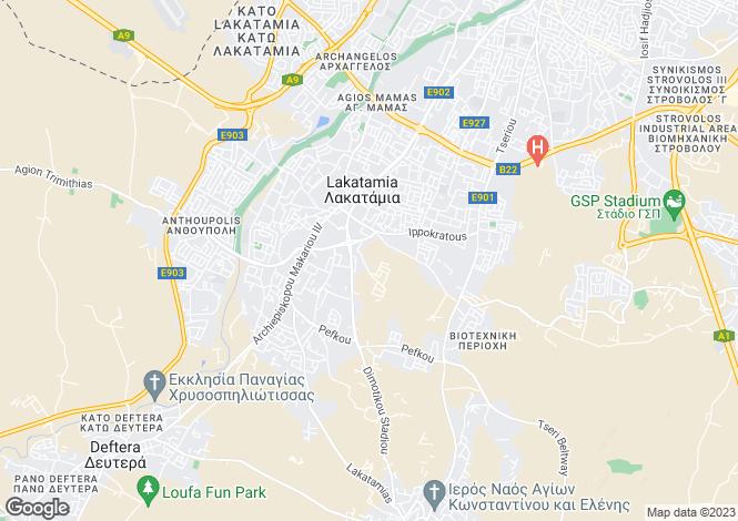 Map for Lakatamia, Nicosia, Cyprus