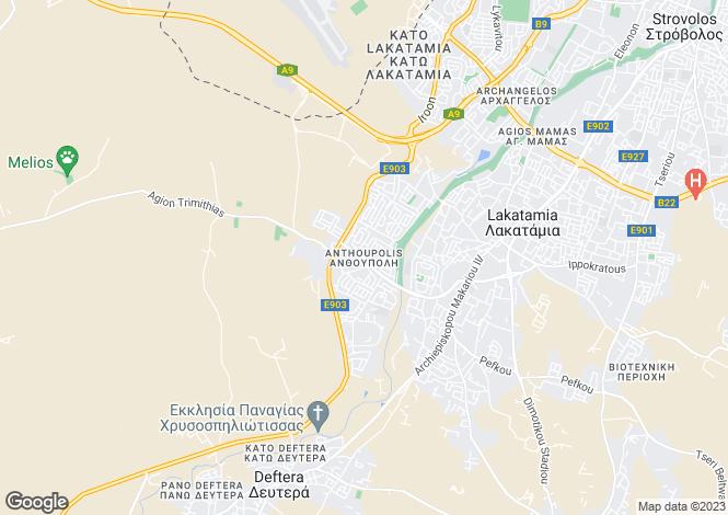 Map for Nicosia, Anthoupoli