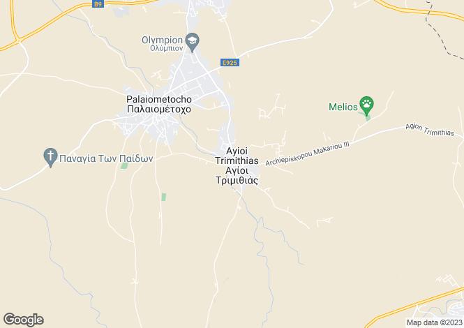 Map for Agioi Trimithias, Nicosia