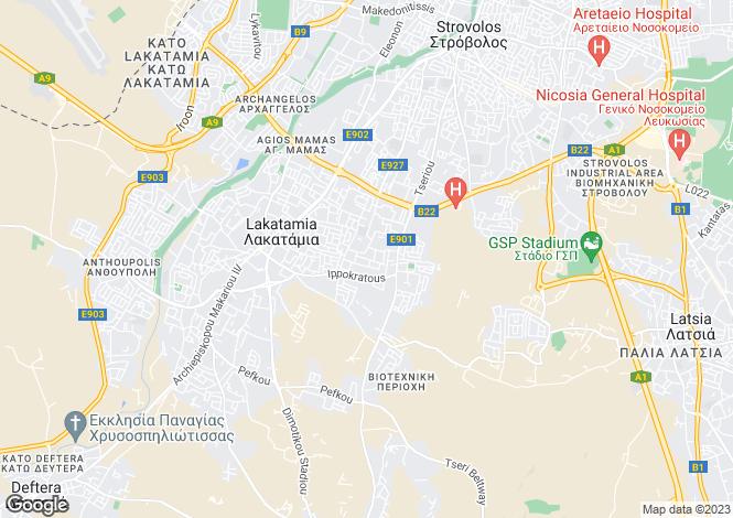 Map for Nicosia, Kato Lakatamia