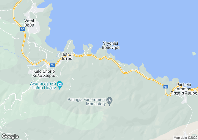 Map for Crete, Lasithi, Istron