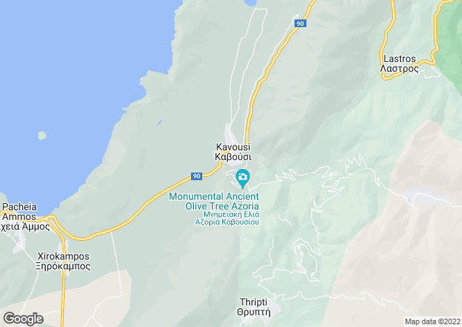 Map for Crete, Lasithi, Kavousi