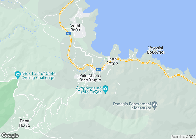 Map for Crete, Lasithi, Kalo Chorio