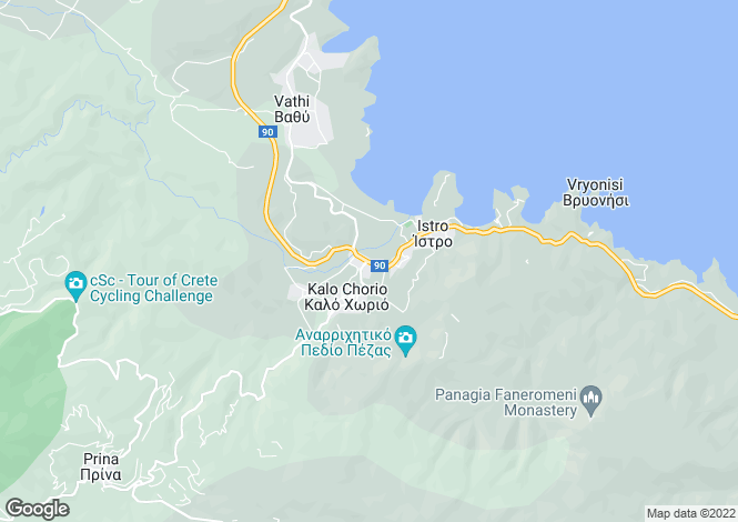 Map for Istron, Lasithi, Crete