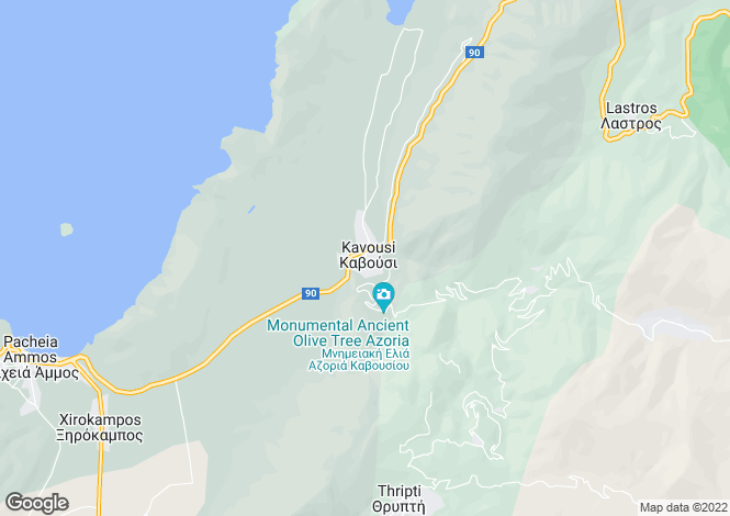 Map for Kavoussi, Lasithi, Crete