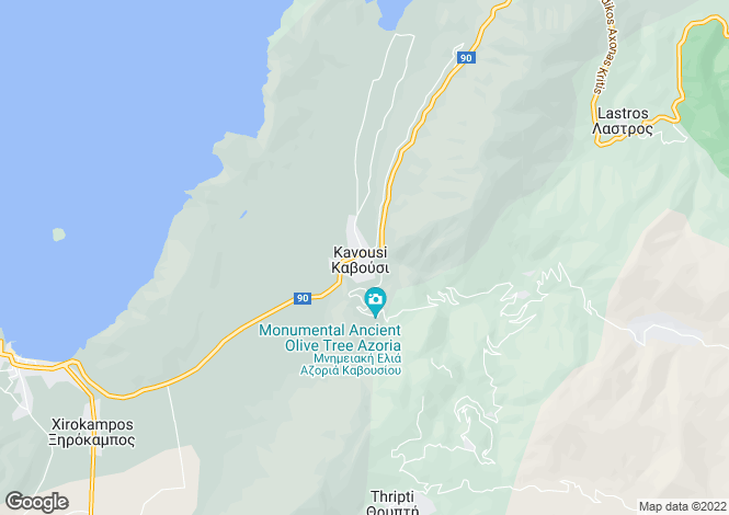 Map for Kavousi, Lasithi, Crete