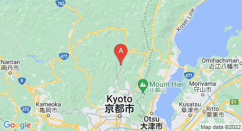map of Mount Kurama (Japan)