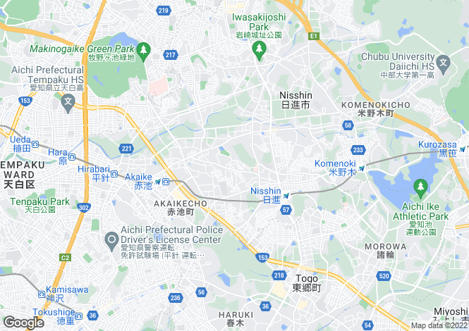 Map for Aichi