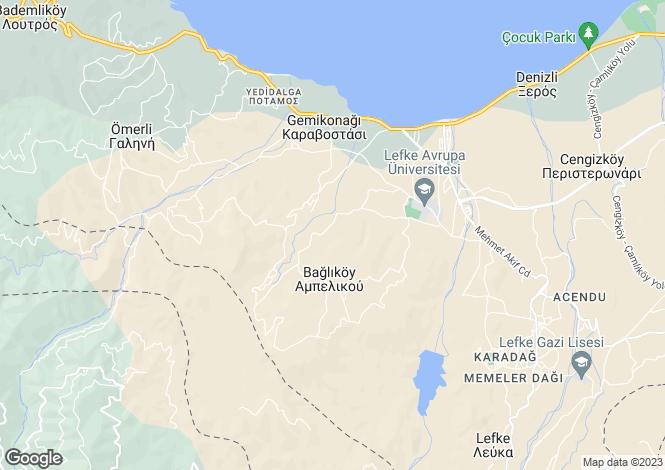 Map for Kyrenia/Girne, Guzelyurt
