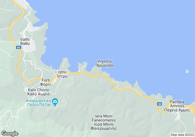 Map for Crete, Lasithi, Istron