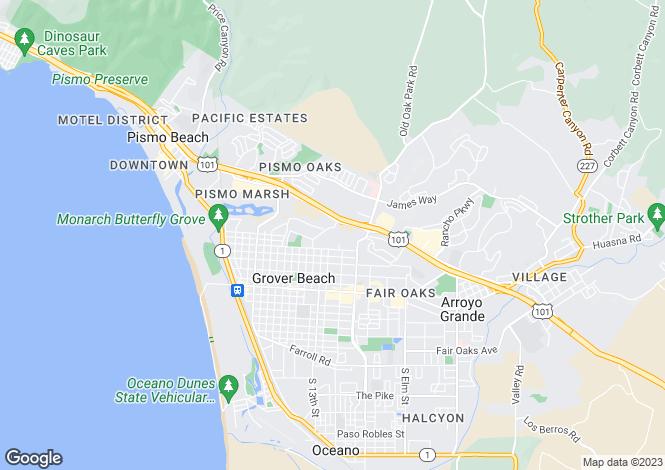 Map for USA - California, San Luis Obispo County, Grover Beach