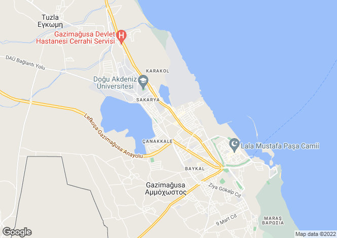 Map for Famagusta, Bogazici