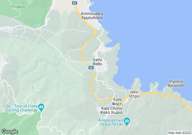 Map for Vathy, Lasithi, Crete