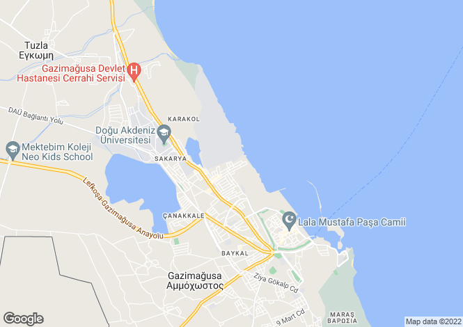 Map for Famagusta, Famagusta