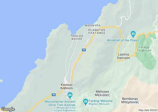 Map for Kavousi, Lasithi, Crete