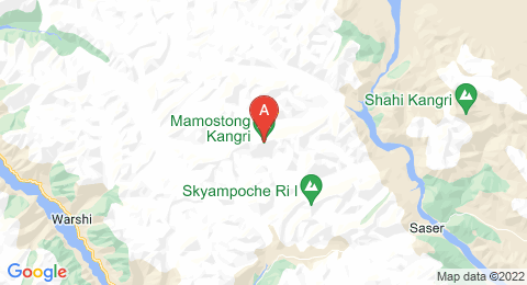 map of Mamostong Kangri (India)