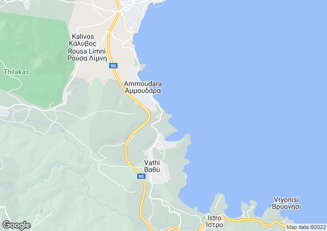 Map for Crete, Lasithi, Vathy