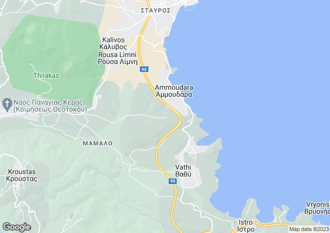 Map for Crete, Lasithi, Vathy
