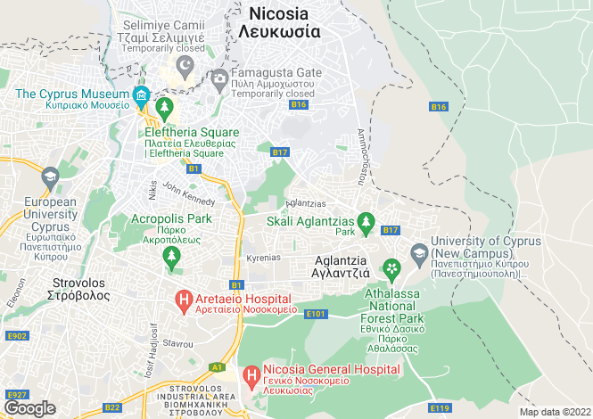 Map for Nicosia, Agioi Omologites