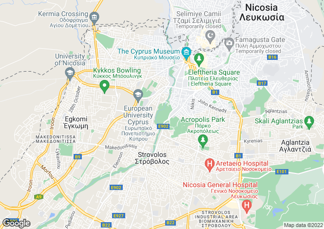 Map for Agioi Omologitai, Nicosia