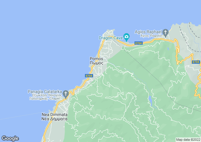 Map for Pomos, Paphos