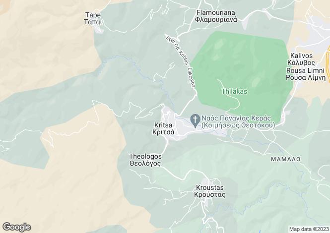 Map for Kritsa, Lasithi, Crete