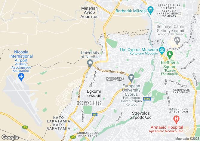 Map for Egkomi, Nicosia, Cyprus