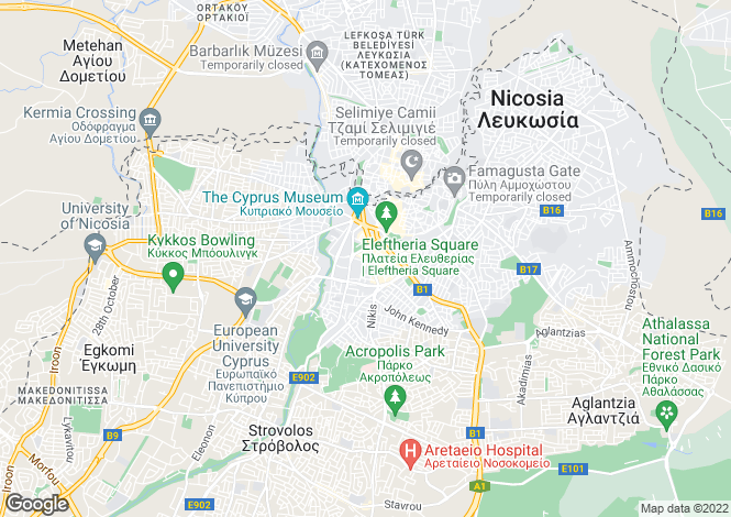 Map for Nicosia Center, Nicosia