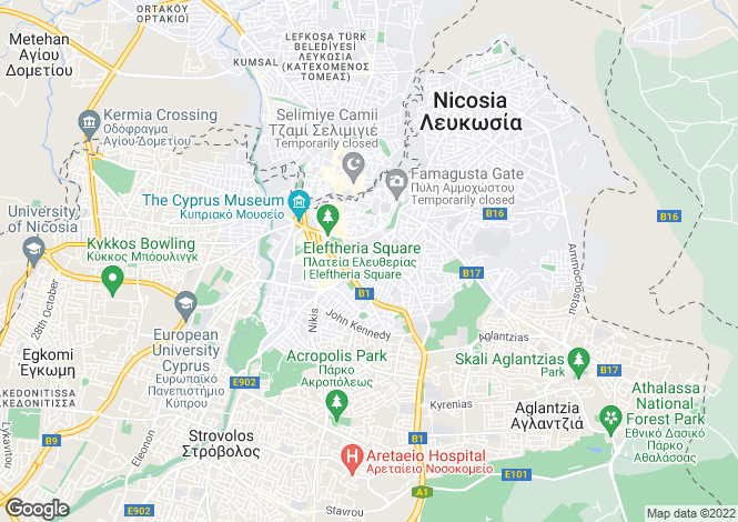 Map for Pallouriotissa, Nicosia