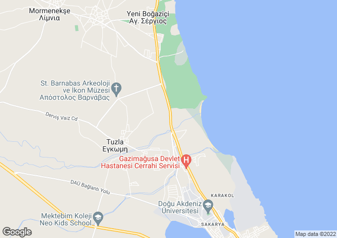 Map for Famagusta, Famagusta