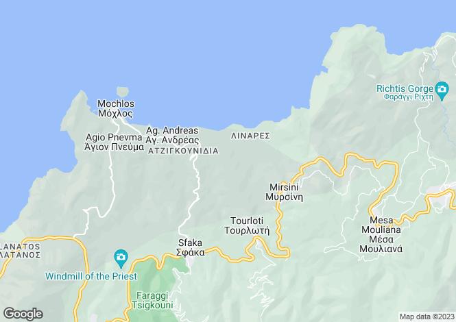 Map for Mochlos, Lasithi, Crete