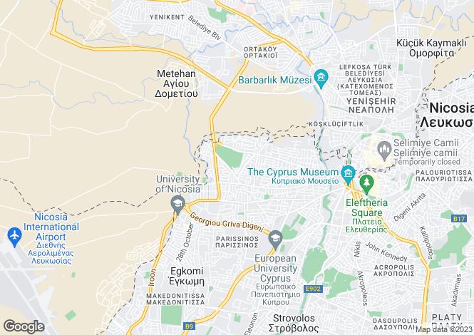 Map for Nicosia, Agios Dometios