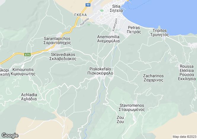 Map for Piskokefalo, Lasithi, Crete