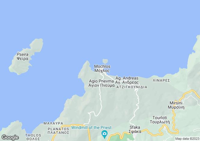 Map for Crete, Lasithi, Mochlos