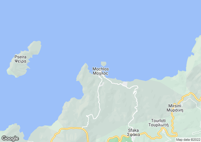 Map for Mochlos, Lasithi, Crete