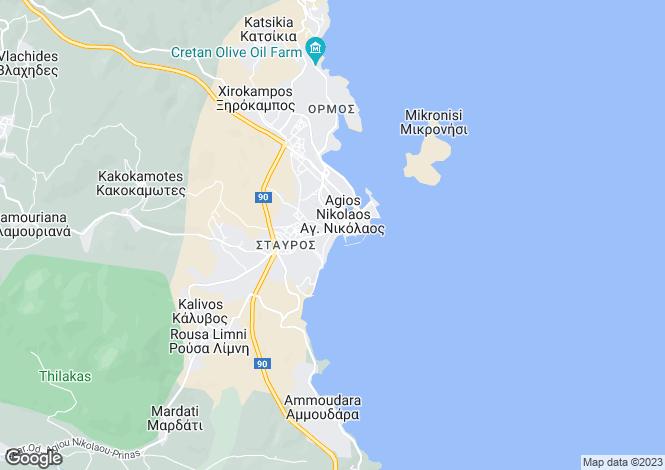 Map for Áyios Nikólaos, Lasithi, Crete