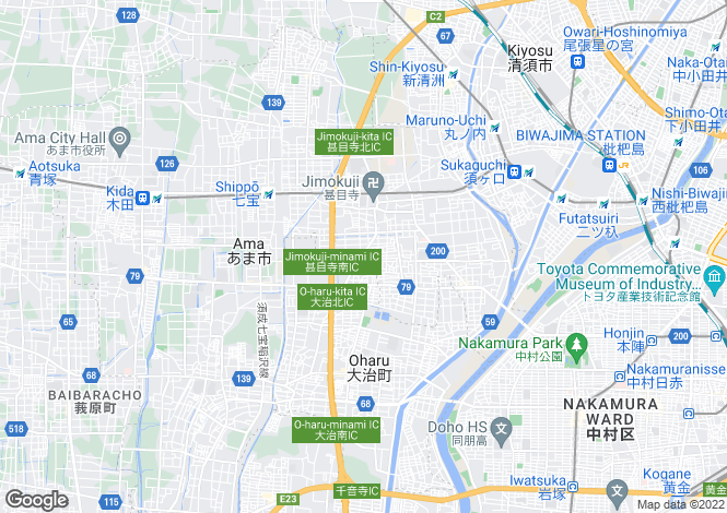 Map for Aichi, Jimokuji
