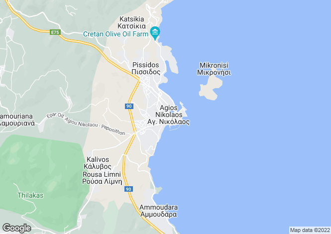Map for Agios Nikolaos, Lasithi, Greece