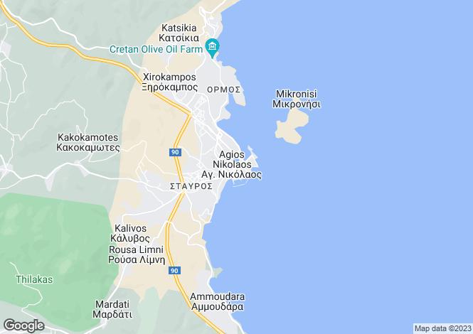 Map for Crete, Lasithi, Neapoli