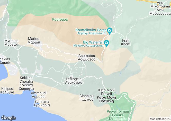 Map for Plakias, Rethymnon, Crete