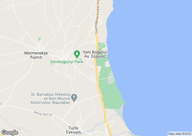 Map for Yenibogazici, Famagusta