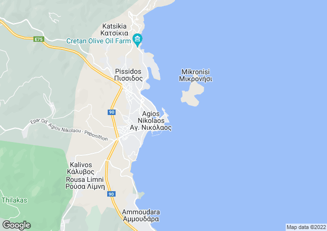 Map for Crete, Lasithi, Áyios Nikólaos