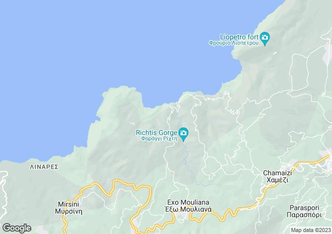 Map for Crete, Lasithi