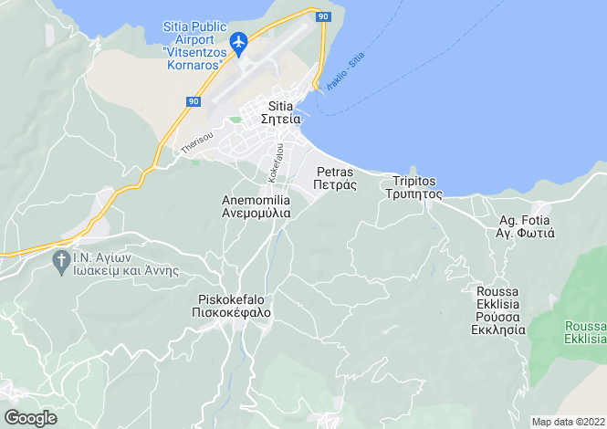 Map for Crete, Lasithi, Siteia