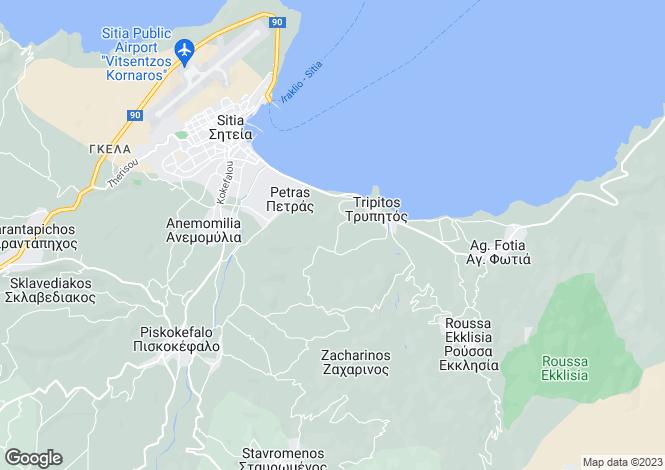 Map for Crete, Lasithi, Siteia
